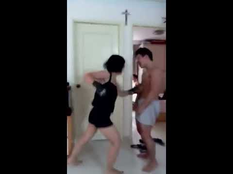 girl stripped naked fight